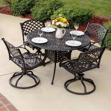 6 Person Patio Dining Set - heritage 5 piece cast aluminum patio dining set with swivel