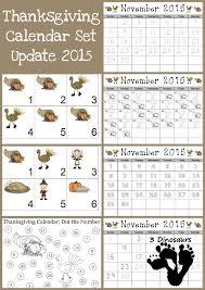 free thanksgiving 2015 calendar 3 dinosaurs