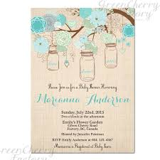vintage mason jar bridal shower invitation 30th 40th any age