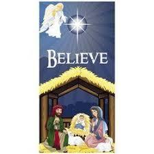 6 nativity believe door banner toys
