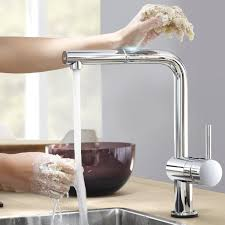 Grohe Minta Kitchen Faucet Grohe 31360000 Minta Touch Electronic Sink With High Spray