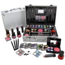 Make Up Vanity Case Cosmetic Vanity Case 50 Piece Beauty Train Box Make Up Gift Set