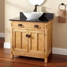 bathroom bathroom vanity cabinet with vessel sink 355594 l teak