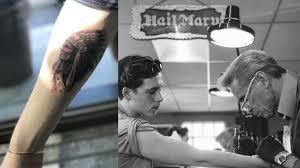 david beckham u0027s son brooklyn gets his maiden tattoo india com