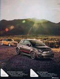 St Vs Abarth 500 Car And Driver St Vs Mini S Vs 500 Abarth