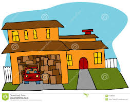 Garage Drawings Cluttered Garage Stock Photography Image 17589562