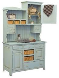 Kitchen Hutch Furniture Primitive Farmhouse Kitchen Hutch Pantry Cupboard Distressed