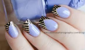 lavender gold foil nails