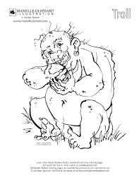 manelle oliphant illustration free coloring page friday troll