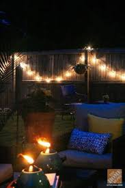 Lighting For Patios I Love This Look Of Lights Over The Deck She Gives Directions On