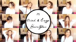 quick and easy hairstyles for running 12 quick easy super lazy running late back to school hairstyles