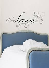 Bedroom Wall Stickers Uk Amazon Com Wall Pops Wpq96852 Peel U0026 Stick Dream Quotes Wall