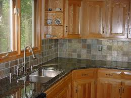 kitchen tile backsplash ideas with maple cabinets modern cooker