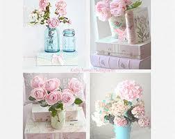 Shabby Chic Bathroom Decor by Shabby Chic Decor Flower Photographs Pink Aqua Floral