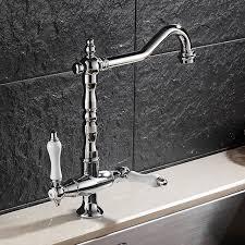 Vintage Kitchen Sink Faucets Mttuzk Vintage European Dual Handle Kitchen Sink Tap Brass Chrome