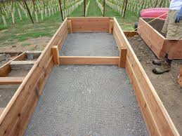 image of gallery raised bed vegetable garden layout brick