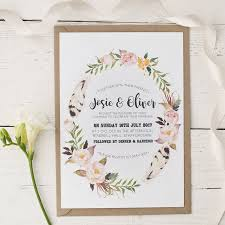 wedding invitations floral bohemian watercolour floral wedding invitation by wolfe