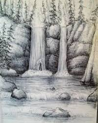 a mountain scene this is a simple mountain scene i drew with