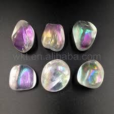 aura crystals wt g142 angel aura quartz polished opal aura stone ab crystal