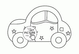 cute car coloring page for kids transportation coloring pages