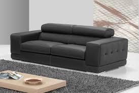 canapé en cuir italien canape 3 places noir en cuir sofamobili