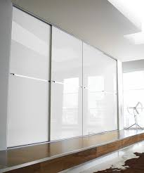Sliding Door Bedroom Wardrobe Designs White Glass Sliding Door Wardrobe Design For Luxury Bedroom