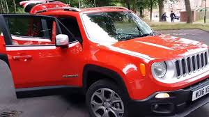 jeep renegade orange interior 2017 jeep renegade detail walkaround and interior 1080p youtube