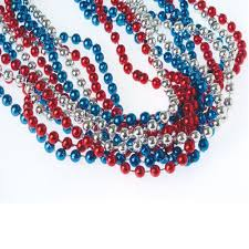 blue bead necklace images U s toy red white blue metallic necklaces toys jpg