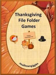 thanksgiving activities file folder motor special education