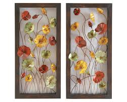 Metal Flower Wall Decor - dancing cosmos metal wall art pair