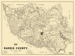 Old United States Map by Old County Map Harris Texas Landowner 1893