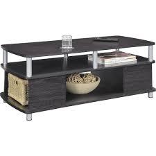 Metal Furniture Finishes Ameriwood Home Carson Coffee Table Espresso Silver Walmart Com