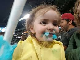 Yellow Raincoat Girl Meme - little girl loses her mind over her cotton candy at seattle
