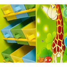 chambre jungle enfant meuble de rangement étagère jouet panier chambre enfant motif