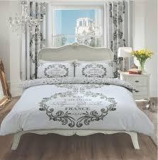 Silver Duvet Cover Duvet Cover With Pillow Case Quilt Cover Bedding Set Paris Silver
