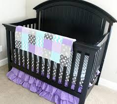 Purple And Aqua Crib Bedding Purple And Gray Crib Bedding