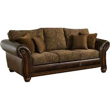 Simmons Sofa Reviews by Simmons Upholstery Brown Leather Zephyr Queen Sleeper Sofa Sofa