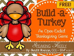 open ended thanksgiving build a turkey by speaking freely slp