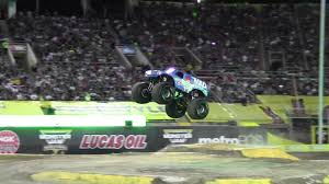 real monster truck videos watch the first ever monster truck front flip the drive