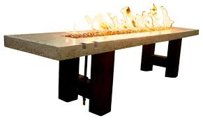 Bar Height Fire Table Rio Grande Fire Table Concrete And Glass Contemporary Fire