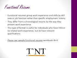 Chronological And Functional Resume Preparing For Employment Ppt Download