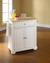 decor small white rolling cart islands with butcher block