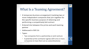 10 Contractor Non Compete Agreement Do S And Don Ts For Teaming Agreements Subcontracts For 8 A