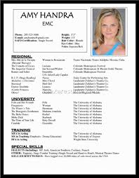 Resume Sample Beginners by Resume Acting Resume Sample
