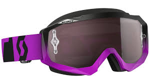 womens motocross goggles scott hustle mx oxide chrome works goggle purple black offroad