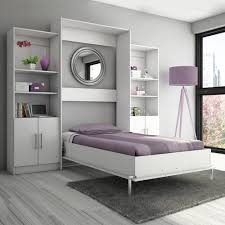Murphy Beds Denver by Furniture Light Grey Wall Bed With Violet Bedding And Stand Lamp