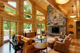 Log Home Interior Design Log Home Interiors High Peaks Log Homes
