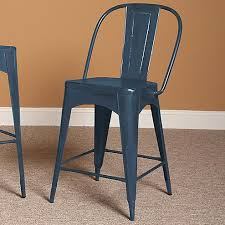 largo timbuktu blue industrial metal counter stool olinde u0027s