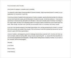 example letters of recommendation sample letter of recommendation