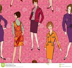 fashion seamless background 1960s style stock image image 30749411